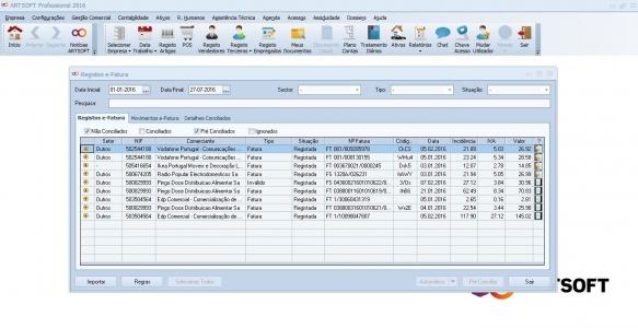ARTSOFT Integra Dados E-fatura