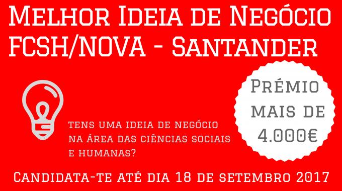 Prémio NOVA FCSH E Santander Universidades